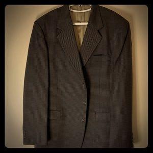 Haggar City Casuals brown checkered 44L Sport Coat